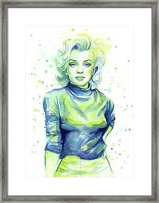 Marilyn Monroe Framed Print by Olga Shvartsur