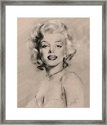 Marilyn Monroe Framed Print by Ylli Haruni