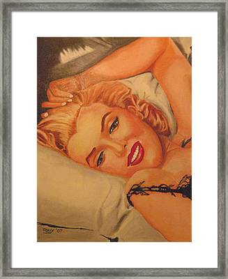 Marilyn Number One Framed Print by Tony Hitch