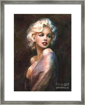 Marilyn Romantic Ww 1 Framed Print by Theo Danella