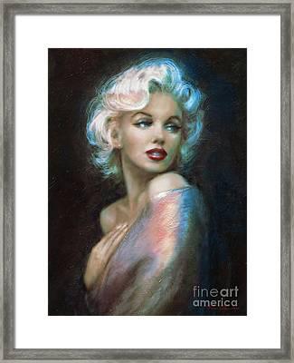 Marilyn Romantic Ww 6 A Framed Print by Theo Danella