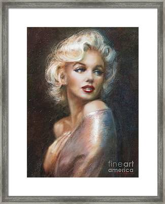 Marilyn Ww Soft Framed Print by Theo Danella