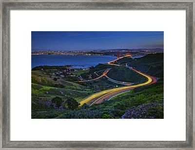 Marin Headlands Framed Print by Rick Berk