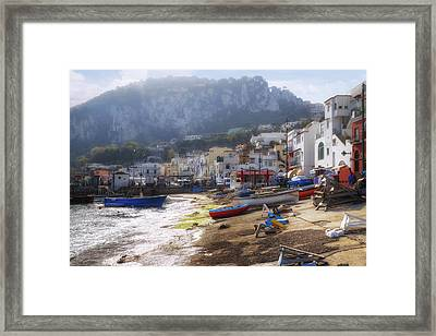 Marina Grande - Capri Framed Print by Joana Kruse