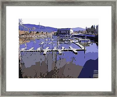 Marina In Spring Framed Print by Robert Bissett