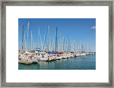 Marina Framed Print by Kelley King