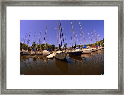 Marina Reflections Framed Print by Lisa Wooten