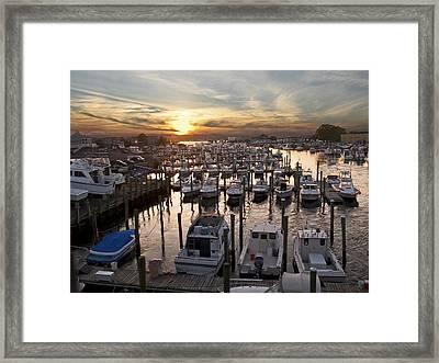 Marina Sunset Framed Print by Andrew Kazmierski