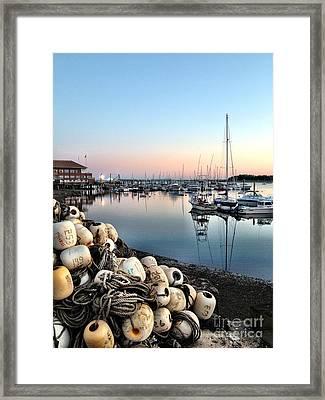 Marina Sunset Framed Print by Extrospection Art