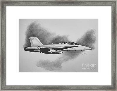 Marine Hornet Framed Print by Stephen Roberson