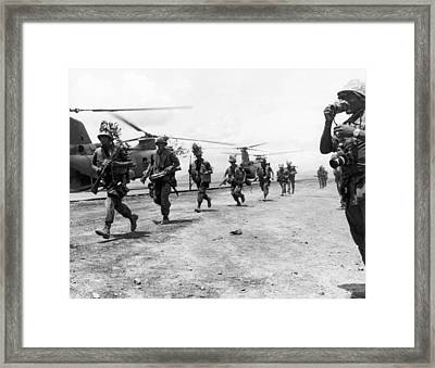 Marines To Dmz Framed Print by Underwood Archives