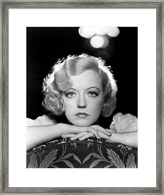 Marion Davies, Early 1930s Framed Print by Everett
