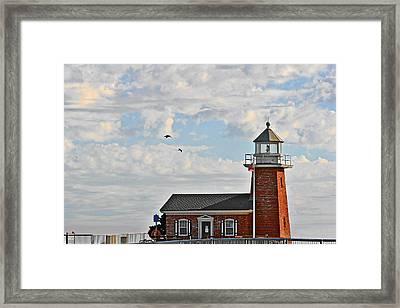 Mark Abbott Memorial Lighthouse  - Home Of The Santa Cruz Surfing Museum Ca Usa Framed Print by Christine Till