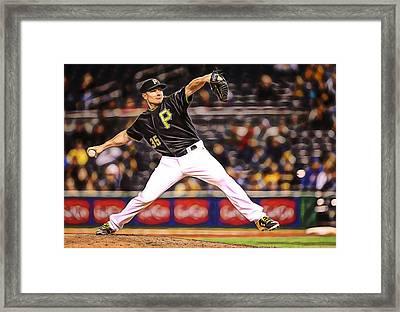 Mark Melancon Baseball Framed Print by Marvin Blaine