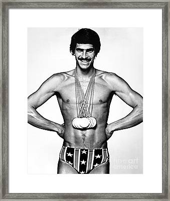 Mark Spitz (1950- ) Framed Print by Granger