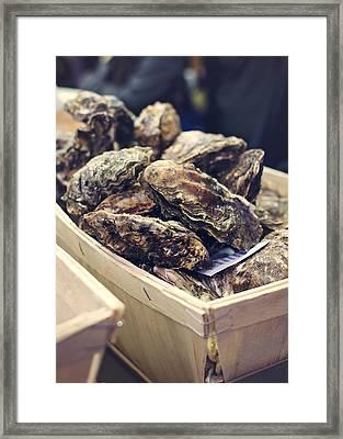 Market Fresh Oysters Framed Print by Heather Applegate