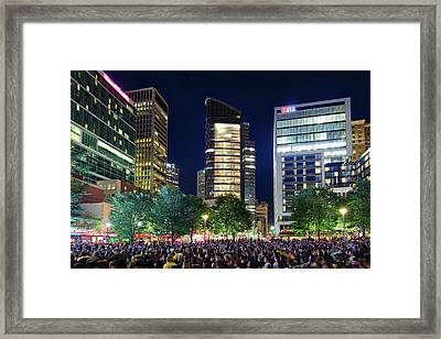 Market Square Stanley Cup Finals  Framed Print by Emmanuel Panagiotakis