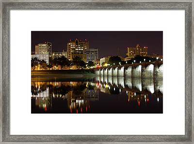 Market Street Bridge Reflections Framed Print by Shelley Neff