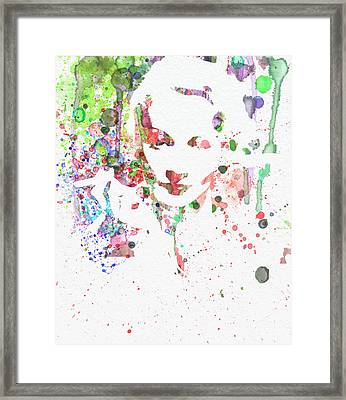 Marlene Dietrich 2 Framed Print by Naxart Studio