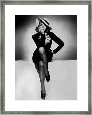 Marlene Dietrich Framed Print by Unknown