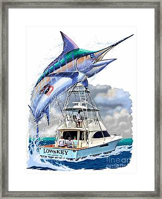 Marlin Commission  Framed Print by Carey Chen