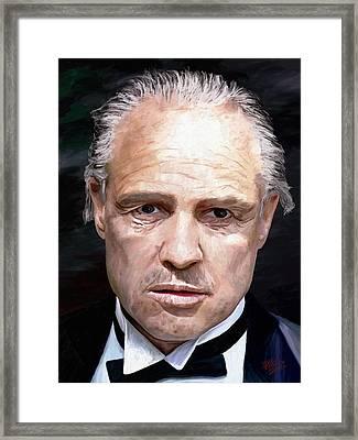 Marlon Brando Framed Print by James Shepherd