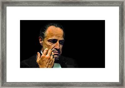 Marlon Brando The Godfather Framed Print by Movie Poster Prints