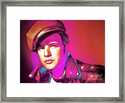Marlon Brando The Wild One 20160116 Horizontal Framed Print by Wingsdomain Art and Photography