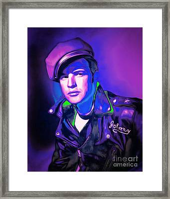 Marlon Brando The Wild One 20160116 M80 Framed Print by Wingsdomain Art and Photography