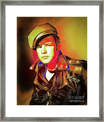 Marlon Brando The Wild One 20160116 P50 Framed Print by Wingsdomain Art and Photography