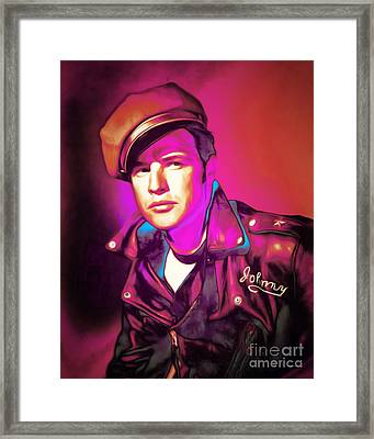 Marlon Brando The Wild One 20160116 Framed Print by Wingsdomain Art and Photography