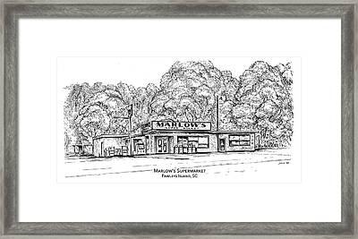 Marlows Market Framed Print by Greg Joens