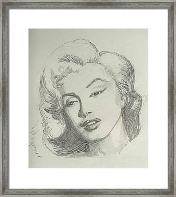 Marlyn Munroe Framed Print by Asha Sudhaker Shenoy