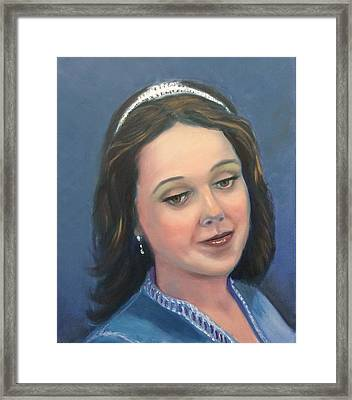 Young Lady  Framed Print by Laila Awad Jamaleldin