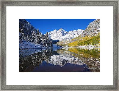 Maroon Lake And Bells 1 Framed Print by Ron Dahlquist - Printscapes