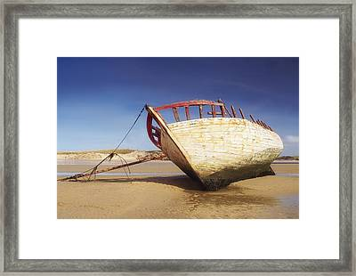 Marooned Boat Framed Print by The Irish Image Collection