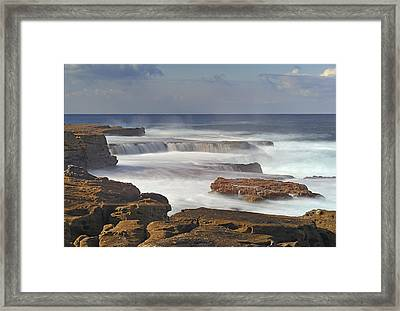 Maroubra Seascape 01 Framed Print by Barry Culling