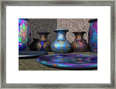 Marrakesh Open Air Market Framed Print by Lyle Hatch