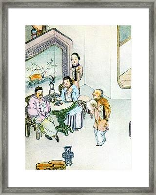 Marriage Proposal Framed Print featuring the photograph Marriage Proposal, China, 19th Century by British Library