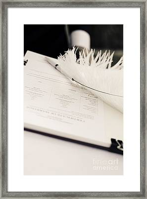 Marriage Register Framed Print by Jorgo Photography - Wall Art Gallery