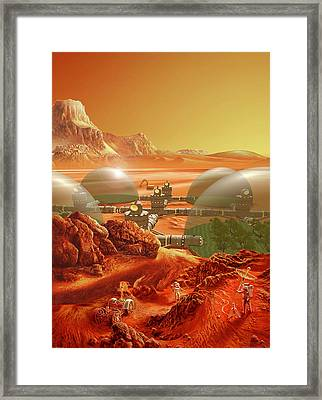 Mars Colony Framed Print by Don Dixon