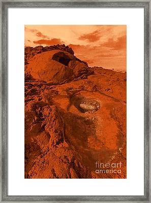 Mars Landscape Framed Print by Gaspar Avila