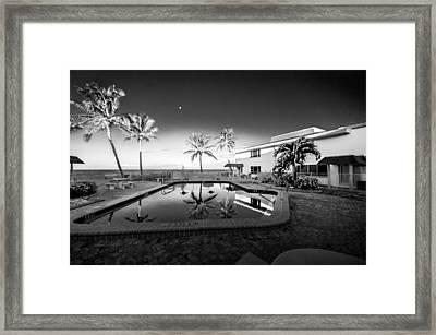 Mars Poolside Framed Print by Gene Camarco
