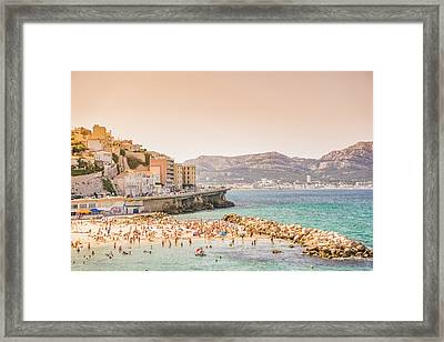 Marseille - South Of France - Beach Framed Print by Vivienne Gucwa