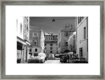 Marseille Street View Framed Print by John Rizzuto