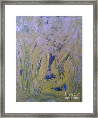 Marsh Moment Framed Print by Leslie Revels Andrews