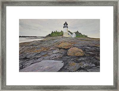Marshal Point Lighthouse Framed Print by Kellie Chasse