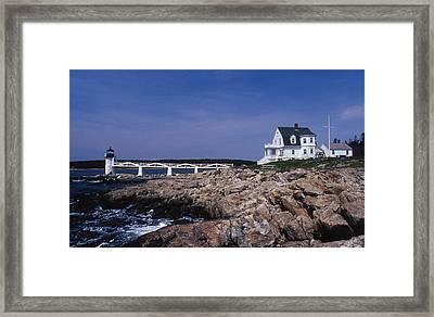 Marshall Point Light Framed Print by Skip Willits