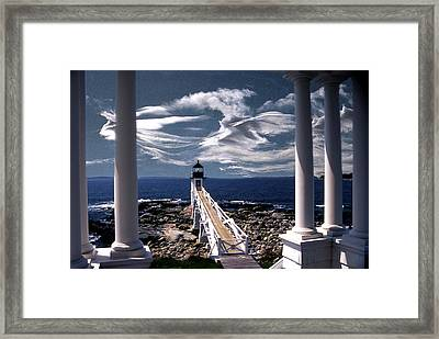 Marshall Point Lighthouse Maine Framed Print by Skip Willits
