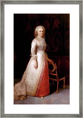Martha Dandridge Custis Washington Framed Print by Eliphalet Frazer Andrews